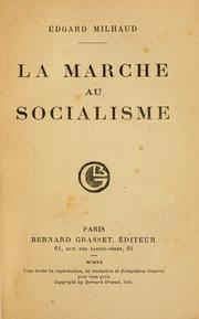 Cover of: La marche au socialisme