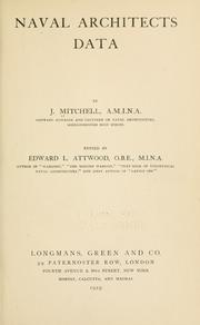 Cover of: Naval architects data. | Mitchell, James M.I.N.A.