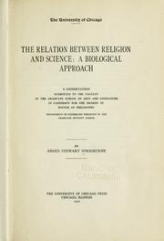 Cover of: The relation between religion and science | Angus Stewart Woodburne
