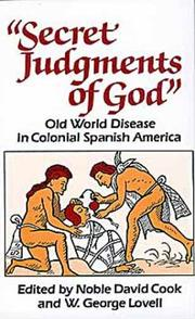 Cover of: Secret judgments of God
