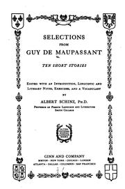 Cover of: Selections from Guy de Maupassant: ten short stories