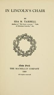 Cover of: In Lincoln's chair