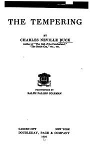 Cover of: tempering | Charles Neville Buck