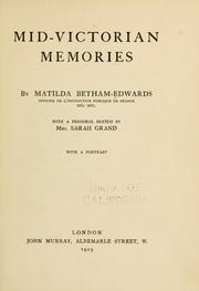 Cover of: Mid-Victorian memories