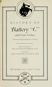 History of Battery C, 148th Field Artillery, American Expeditionary Forces