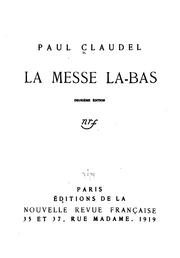 Cover of: La messe là-bas
