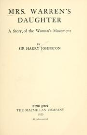 Cover of: Mrs. Warren's daughter