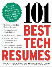 Cover of: 101 Best Tech Resumes