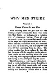 Cover of: Why men strike
