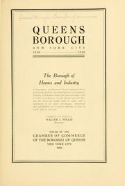 Cover of: Queens Borough, New York City, 1910-1920 by Chamber of Commerce (Queens, New York, N.Y.)