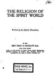 Cover of: The religion of the spirit world written by the spirits themselves