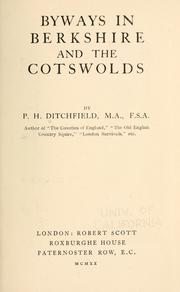 Cover of: Byways in Berkshire and the Cotswolds