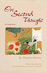 Cover of: On second thought | Maurice Kenny