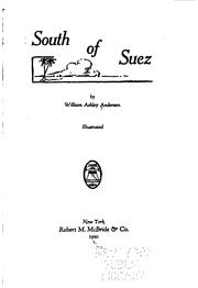 Cover of: South of Suez