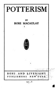 Cover of: Potterism | Thomas Babington Macaulay