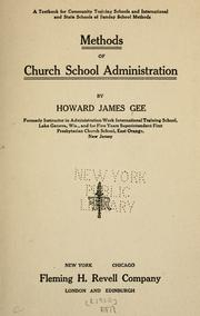 Cover of: Methods of church school administration