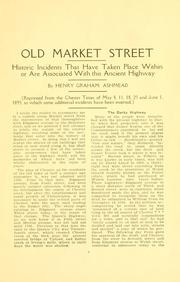 Cover of: Old Market Street, Chester, Pennsylvania