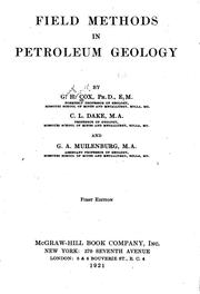 Cover of: Field methods in petroleum geology | Guy Henry Cox