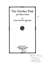 Cover of: The garden path and other verses