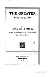 Cover of: The greater mystery