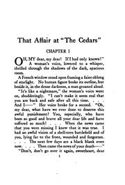 Cover of: That affair at The Cedars | Lee Thayer