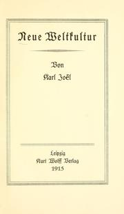 Cover of: Neue weltkultur