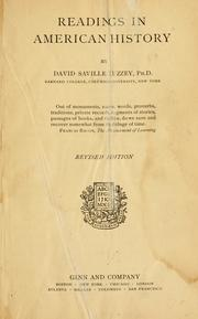 Cover of: Readings in American history | Muzzey, David Saville