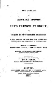 Cover of: The turning of English idioms into French at sight