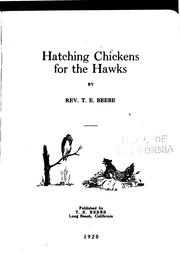 Cover of: Hatching chickens for the hawks