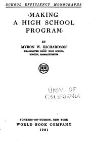 Cover of: Making a high school program
