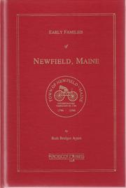 Cover of: Early families of Newfield, Maine by Ruth Bridges Ayers