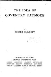 Cover of: The idea of Coventry Patmore