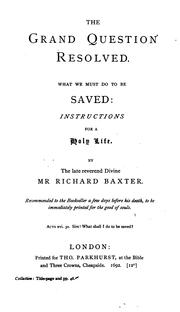 Cover of: What we must do to be saved
