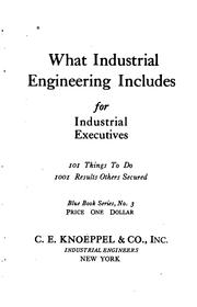 Cover of: What industrial engineering includes