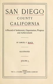 Cover of: San Diego county, California | Samuel T. Black