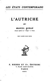 Cover of: L' Autriche