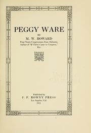Cover of: Peggy Ware | Howard, M. W.
