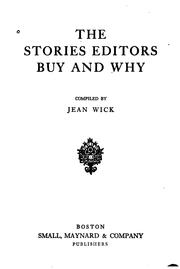 Cover of: The stories editors buy and why