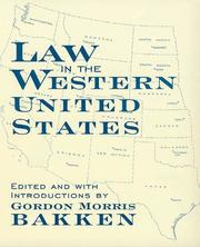 Cover of: Law in Western United States (Legal History of North America)