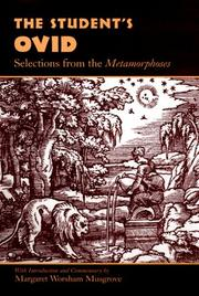 Cover of: The student's Ovid: selections from the Metamorphoses