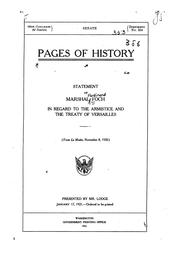 Cover of: Pages of history