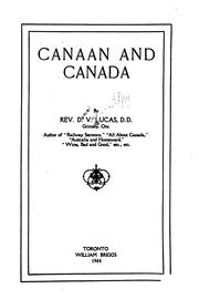 Cover of: Canaan and Canada