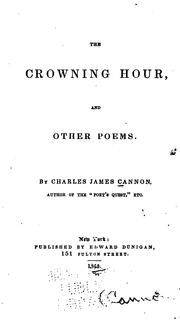 Cover of: The crowning hour: and other poems.