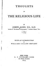 Cover of: Thoughts on the religious life | Joseph Alden