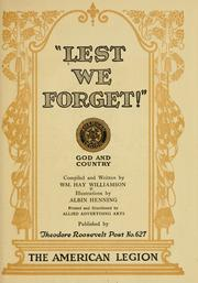 "Cover of: ""Lest we forget!"""