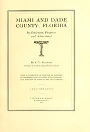 Cover of: Miami and Dade county, Florida by E. V. Blackman