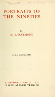 Cover of: Portraits of the nineties | Raymond, E. T.