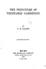 Cover of: The principles of vegetable-gardening