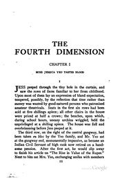 Cover of: The fourth dimension