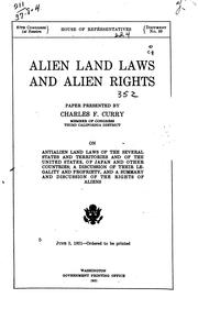 Cover of: Alien land laws and alien rights